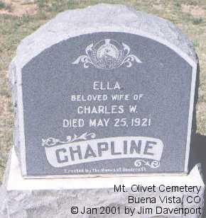 CHAPLINE, ELLA - Chaffee County, Colorado   ELLA CHAPLINE - Colorado Gravestone Photos