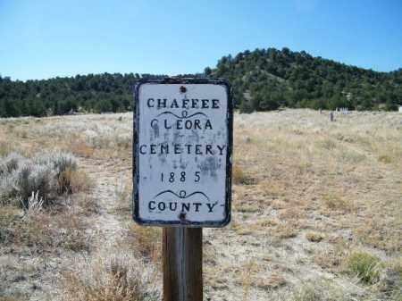 CLEORA, SIGN - Chaffee County, Colorado   SIGN CLEORA - Colorado Gravestone Photos
