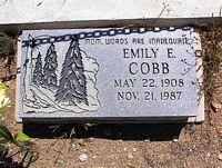 COBB, EMILY E. - Chaffee County, Colorado | EMILY E. COBB - Colorado Gravestone Photos