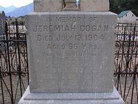 COGAN, JEREMIAH - Chaffee County, Colorado | JEREMIAH COGAN - Colorado Gravestone Photos