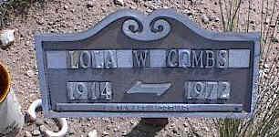 BASHAM COMBS, LOLA W. - Chaffee County, Colorado | LOLA W. BASHAM COMBS - Colorado Gravestone Photos