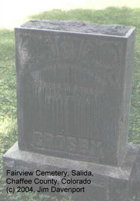 CROSBY, GEORGE M. - Chaffee County, Colorado | GEORGE M. CROSBY - Colorado Gravestone Photos
