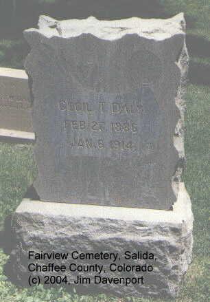 DALY, CECIL T. - Chaffee County, Colorado   CECIL T. DALY - Colorado Gravestone Photos