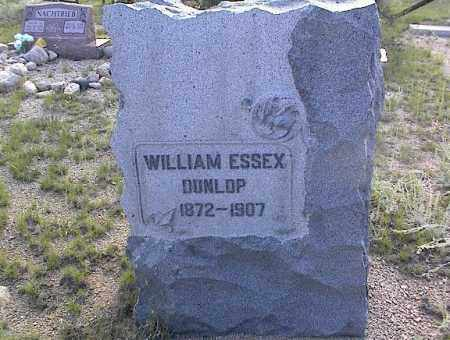 DUNLOP, WILLIAM ESSEX - Chaffee County, Colorado | WILLIAM ESSEX DUNLOP - Colorado Gravestone Photos
