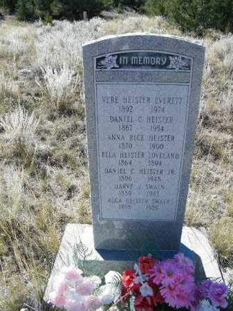 RICE HEISTER, ANNA - Chaffee County, Colorado | ANNA RICE HEISTER - Colorado Gravestone Photos