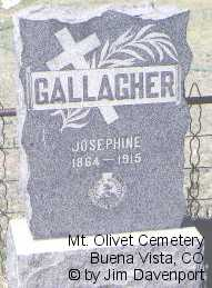 GALLAGHER, JOSEPHINE - Chaffee County, Colorado | JOSEPHINE GALLAGHER - Colorado Gravestone Photos
