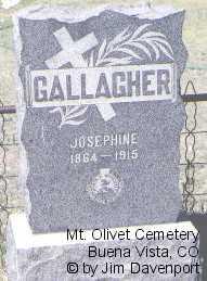 GALLAGHER, JOSEPHINE - Chaffee County, Colorado   JOSEPHINE GALLAGHER - Colorado Gravestone Photos