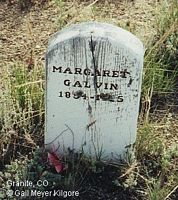 SHEEHAN GALVIN, MARGARET - Chaffee County, Colorado | MARGARET SHEEHAN GALVIN - Colorado Gravestone Photos
