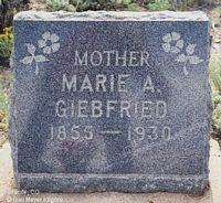 GIEBFRIED, MARIE A. - Chaffee County, Colorado | MARIE A. GIEBFRIED - Colorado Gravestone Photos