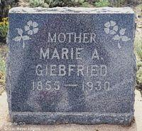 GIEBFRIED, MARIE A. - Chaffee County, Colorado | MARIE A. GIEBFRIED - Colorado Gravestone Photos