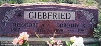 GIEBFRIED, THEODORE ALEX - Chaffee County, Colorado | THEODORE ALEX GIEBFRIED - Colorado Gravestone Photos