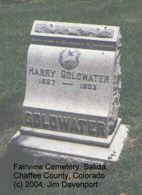 GOLDWATER, HARRY - Chaffee County, Colorado   HARRY GOLDWATER - Colorado Gravestone Photos
