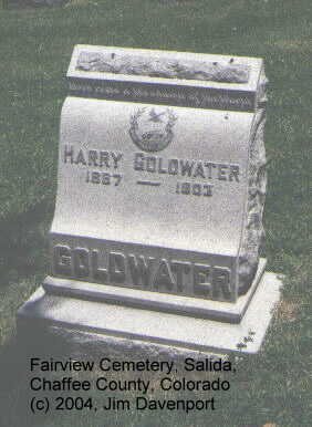 GOLDWATER, HARRY - Chaffee County, Colorado | HARRY GOLDWATER - Colorado Gravestone Photos