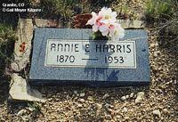 HARRIS, ANNIE E. - Chaffee County, Colorado | ANNIE E. HARRIS - Colorado Gravestone Photos