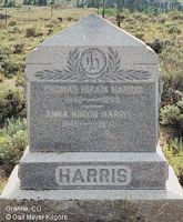HARRIS, THOMAS HIRAM - Chaffee County, Colorado | THOMAS HIRAM HARRIS - Colorado Gravestone Photos