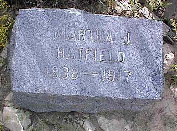 HATFIELD, MARTHA J. - Chaffee County, Colorado   MARTHA J. HATFIELD - Colorado Gravestone Photos