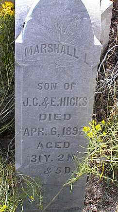 HICKS, MARSHALL L. - Chaffee County, Colorado | MARSHALL L. HICKS - Colorado Gravestone Photos