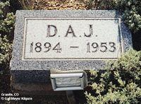 JARDINE, D. A. - Chaffee County, Colorado   D. A. JARDINE - Colorado Gravestone Photos