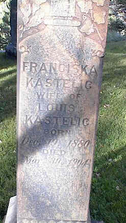 KASTELIC, FRANCISKA - Chaffee County, Colorado | FRANCISKA KASTELIC - Colorado Gravestone Photos