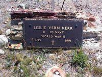 KERR, LESLIE VERN - Chaffee County, Colorado   LESLIE VERN KERR - Colorado Gravestone Photos
