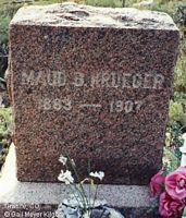 KRUEGER, MAUD B. - Chaffee County, Colorado   MAUD B. KRUEGER - Colorado Gravestone Photos