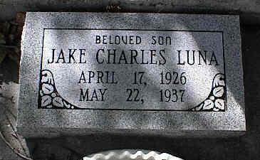 LUNA, JAKE CHARLES - Chaffee County, Colorado | JAKE CHARLES LUNA - Colorado Gravestone Photos