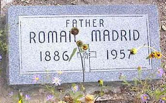 MADRID, ROMAN - Chaffee County, Colorado | ROMAN MADRID - Colorado Gravestone Photos