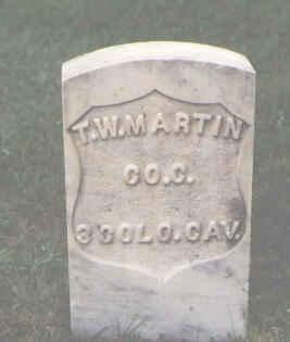 MARTIN, T. W. - Chaffee County, Colorado | T. W. MARTIN - Colorado Gravestone Photos