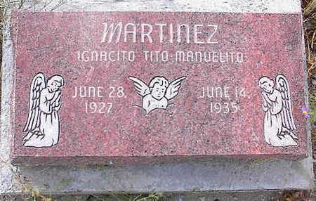 MARTINEZ, IGNACITO TITO MANUELITO - Chaffee County, Colorado   IGNACITO TITO MANUELITO MARTINEZ - Colorado Gravestone Photos