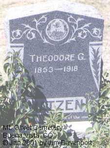 MATZEN, THEODORE G. - Chaffee County, Colorado   THEODORE G. MATZEN - Colorado Gravestone Photos