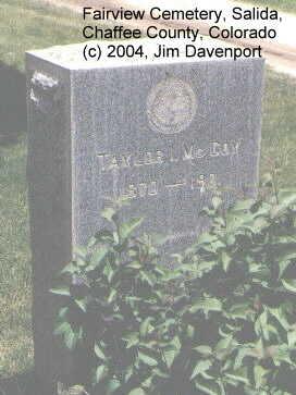 MCCOY, TAYLOR I. - Chaffee County, Colorado | TAYLOR I. MCCOY - Colorado Gravestone Photos