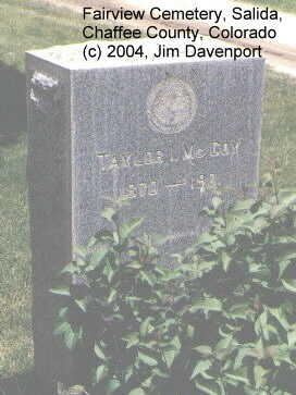 MCCOY, TAYLOR I. - Chaffee County, Colorado | TAYLOR I. MCCOY - Colorado Gravestone Photos