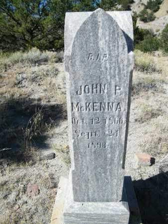 MCKENNA, JOHN P. - Chaffee County, Colorado   JOHN P. MCKENNA - Colorado Gravestone Photos