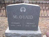 MCQUAID, BERNARD - Chaffee County, Colorado | BERNARD MCQUAID - Colorado Gravestone Photos