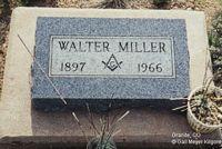MILLER, WALTER - Chaffee County, Colorado | WALTER MILLER - Colorado Gravestone Photos