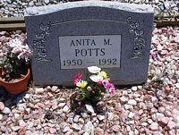 POTTS, ANITA M. - Chaffee County, Colorado   ANITA M. POTTS - Colorado Gravestone Photos