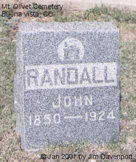 RANDALL, JOHN - Chaffee County, Colorado | JOHN RANDALL - Colorado Gravestone Photos