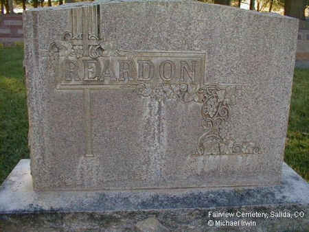 REARDON, MONUMENT - Chaffee County, Colorado | MONUMENT REARDON - Colorado Gravestone Photos