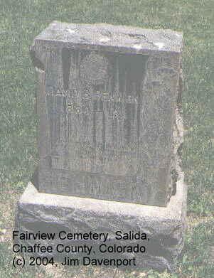 RENWICK, DAVID B. - Chaffee County, Colorado | DAVID B. RENWICK - Colorado Gravestone Photos