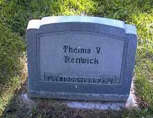 RENWICK, THELMA V. - Chaffee County, Colorado | THELMA V. RENWICK - Colorado Gravestone Photos