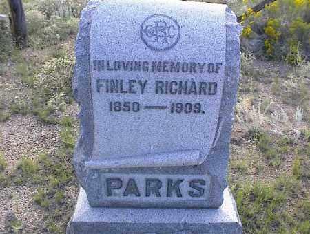 PARKS, FINLEY RICHARD - Chaffee County, Colorado   FINLEY RICHARD PARKS - Colorado Gravestone Photos