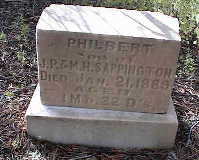 SAPPINGTON, PHILBERT - Chaffee County, Colorado | PHILBERT SAPPINGTON - Colorado Gravestone Photos