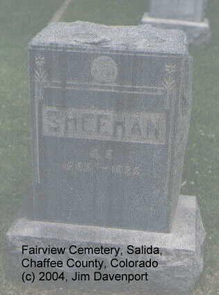SHEEHAN, C.E. - Chaffee County, Colorado   C.E. SHEEHAN - Colorado Gravestone Photos
