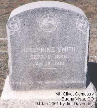 SMITH, JOSEPHINE - Chaffee County, Colorado | JOSEPHINE SMITH - Colorado Gravestone Photos