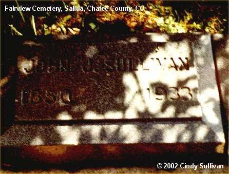 SULLIVAN, JOHN J. - Chaffee County, Colorado   JOHN J. SULLIVAN - Colorado Gravestone Photos