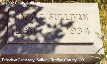 SULLIVAN, MARY C. - Chaffee County, Colorado | MARY C. SULLIVAN - Colorado Gravestone Photos