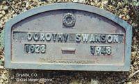 SWANSON, DOROTHY L. - Chaffee County, Colorado | DOROTHY L. SWANSON - Colorado Gravestone Photos