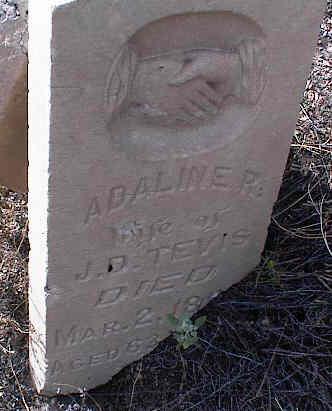 TEVIS, ADALINE R. - Chaffee County, Colorado   ADALINE R. TEVIS - Colorado Gravestone Photos
