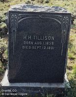 TILLISON, H. H. - Chaffee County, Colorado | H. H. TILLISON - Colorado Gravestone Photos