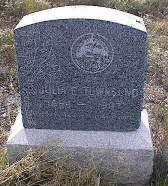 TOWNSEND, JULIA E. - Chaffee County, Colorado   JULIA E. TOWNSEND - Colorado Gravestone Photos
